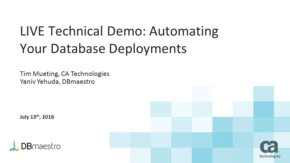 Automating Your Database Deployments